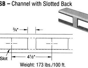 Steel Channel with Slotted Back (1 5/8 x 1 5/8 x 12 ga.)