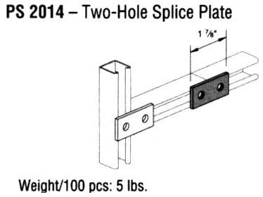 Two-Hole Splice Plate