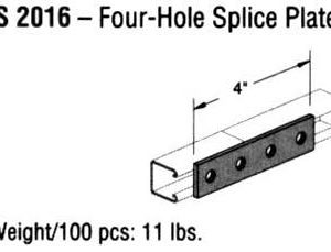 Four-Hole Splice Plate