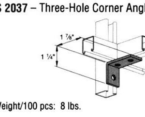 Three-Hole Corner Angle