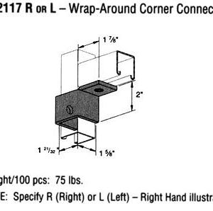 R or L Wrap Around Corner Connector