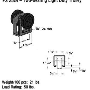 Two-Bearing Light Duty Trolley