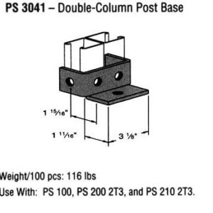 Double-Column Post Base