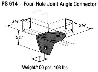 Four-Hole Joint Angle Connector