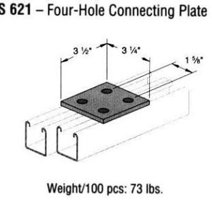 Four-Hole Connecting Plate