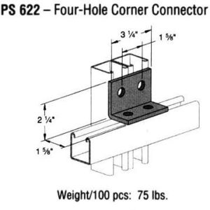Four-Hole Corner Connector