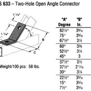 Two-Hole Open Angle Connector