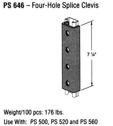 Four-Hole Splice Clevis