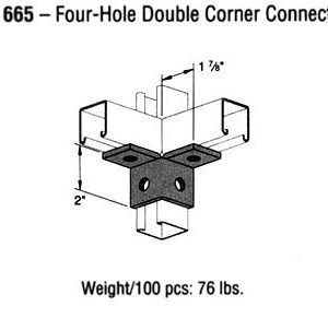 Four-Hole Double Corner Connector