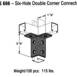 Six-Hole Double Corner Connector