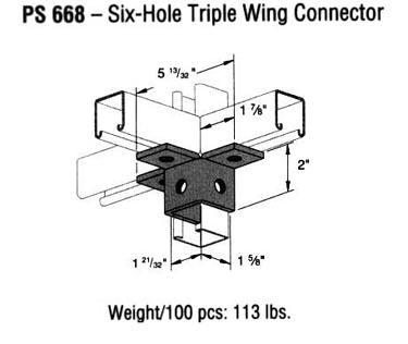 Six-Hole Triple Wing Connector