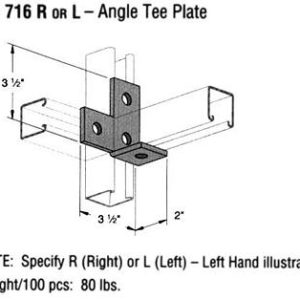 R or L Angle Tee Plate