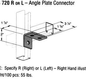 R or L Angle Plate Connector