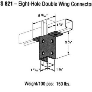Eight-Hole Double Wing Connector