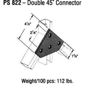 Double 45 Degree Connector