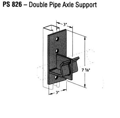Double Pipe Axle Support