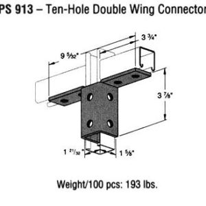 Ten-Hole Double Wing Connector