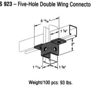 Five-Hole Double Wing Connector