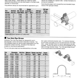 Two Hole Pipe Straps
