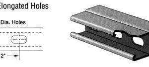 Steel Channel with Elongated Holes (1 5/8 x 3 1/4 x 12 ga.)