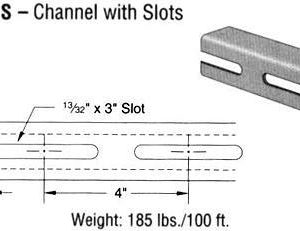 Steel Channel with Slots (1 5/8 x 1 5/8 x 12 ga.)