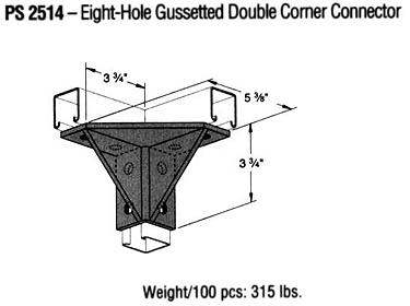 Eight-Hole Gussetted Double Corner Connector