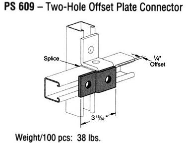 Two-Hole Offset Plate Connector