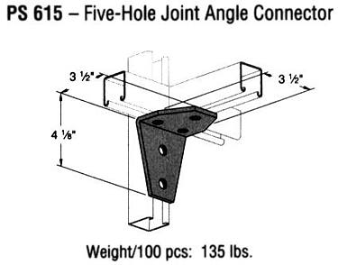 Five-Hole Joint Angle Connector