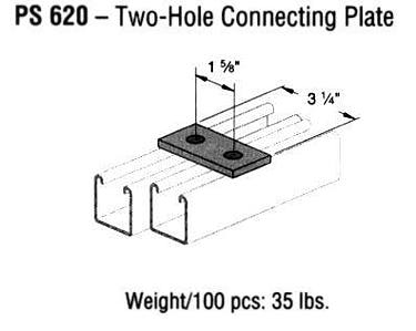 Two-Hole Connecting Plate