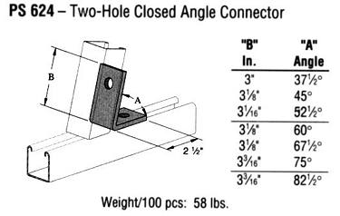 Two-Hole Closed Angle Connector