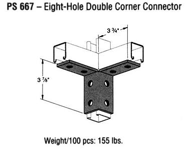 Eight-Hole Double Corner Connector
