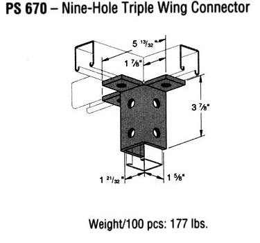 Nine-Hole Triple Wing Connector