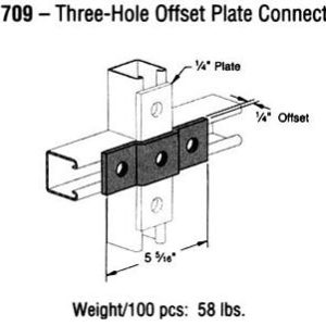 Three-Hole Offset Plate Connection