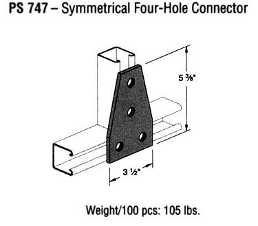 Symmectrical Four-Hole Connector