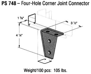 Four-Hole Corner Joint Connector