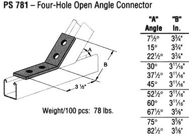 Four-Hole Open Angle Connector