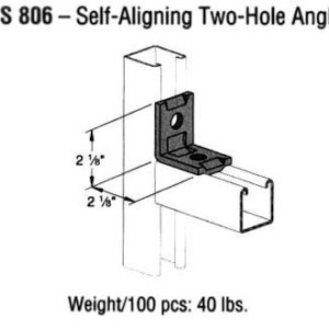 Self-Aligning Two-Hole Angle