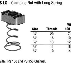 Clamping Nut with Long Spring